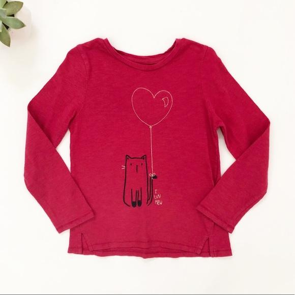 27321c2bf2c03f GAP Shirts & Tops | Baby Girls Red I Luv Mew Shirt 5 5t | Poshmark